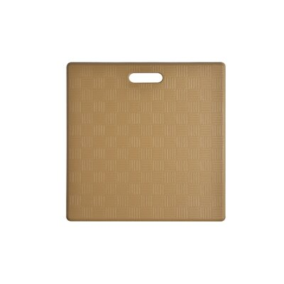 Square Basket Weave Kitchen Mat Color: Ice Coffee, Set of: 2