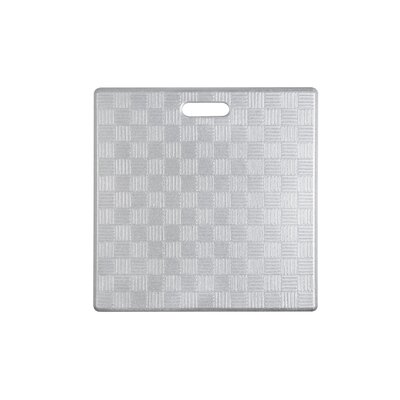 Square Basket Weave Kitchen Mat Color: Silver, Set of: 1