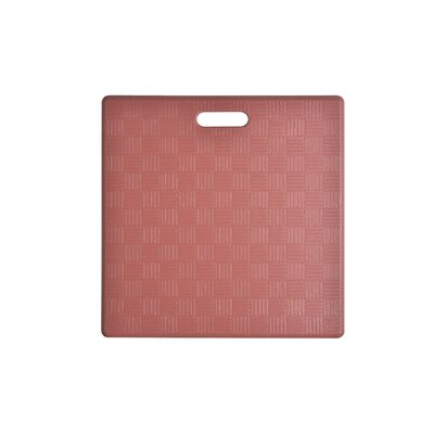 Square Basket Weave Kitchen Mat Color: Marsala, Set of: 2