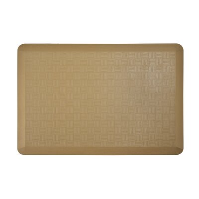 Basket Weave Kitchen Mat Color: Ice Coffee, Set of: 1
