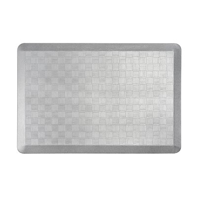 Basket Weave Kitchen Mat Color: Silver, Set of: 1