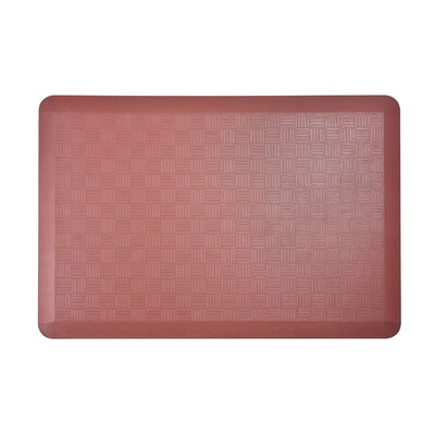 Basket Weave Kitchen Mat Color: Marsala, Set of: 2