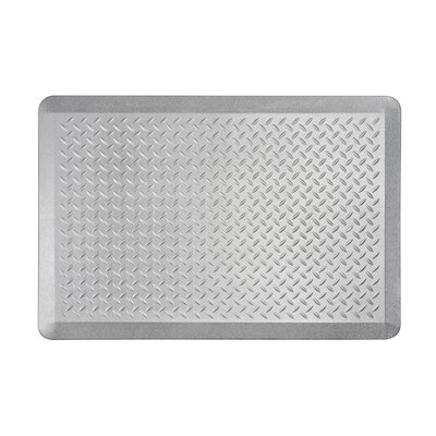 Tread Plate Kitchen Mat Color: Silver, Set of: 2