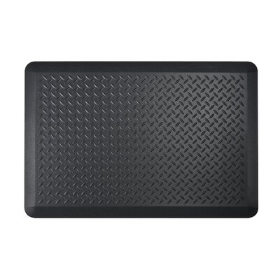 Tread Plate Kitchen Mat Color: Black, Set of: 2