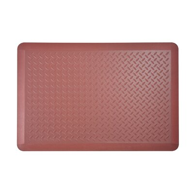 Tread Plate Kitchen Mat Color: Marsala, Set of: 2