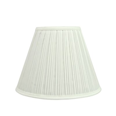 Pleated 12 Fabric Empire Lamp Shade Finish: Off White