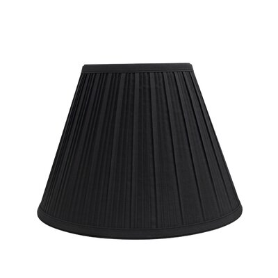 Pleated 12 Fabric Empire Lamp Shade Finish: Black