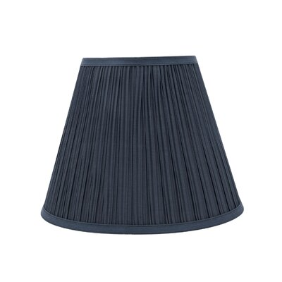 Transitional Pleated 13 Fabric Empire Lamp Shade Color: Dark Blue