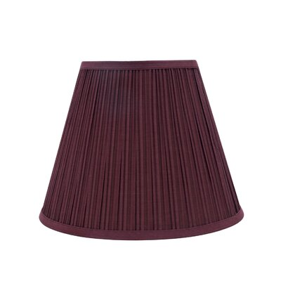Transitional Pleated 13 Fabric Empire Lamp Shade Color: Burgundy
