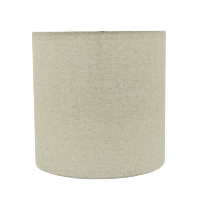 Transitional 8 Linen Drum Spider Lamp Shade Color: Light Gray