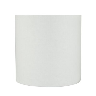 Transitional 8 Linen Drum Spider Lamp Shade Color: White