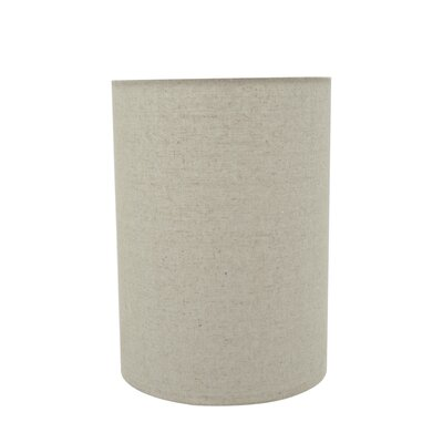 Transitional 8 Linen Drum Lamp Shade Color: Light Gray