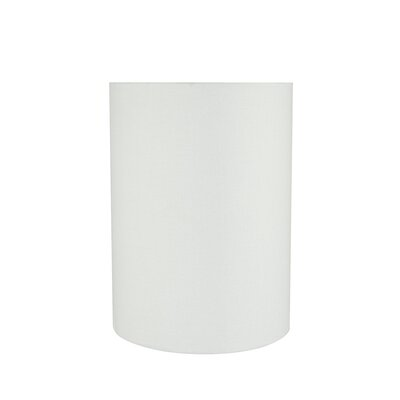 Transitional 8 Linen Drum Lamp Shade Color: White