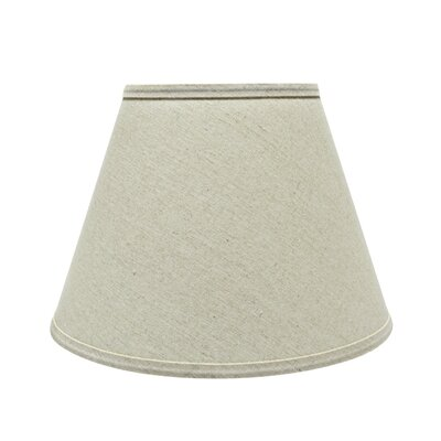 13 Fabric Empire Lamp Shade Color: Light Gray