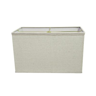 Transitional 16 Linen Rectangular Lamp Shade Color: Light Gray