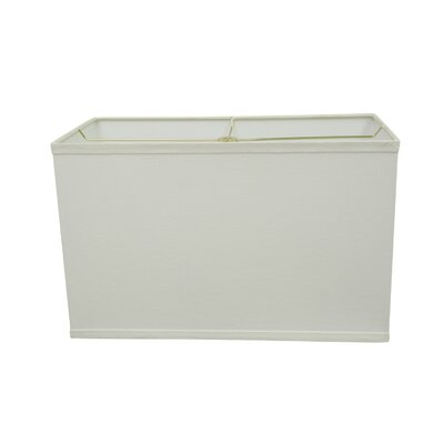 Transitional 16 Linen Rectangular Lamp Shade Color: White