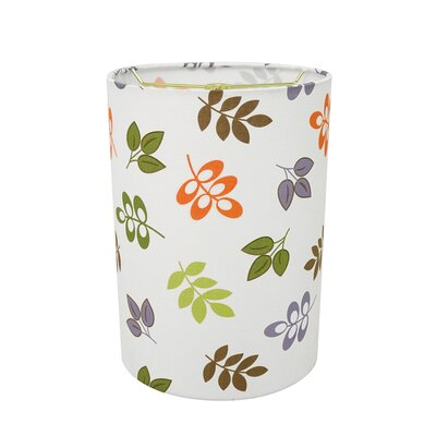 Transitional 8 Fabric Drum Leaves Lamp Shade
