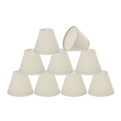 6 Fabric Empire Lamp Shade Color: Off White