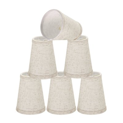 Clip On 4 Linen Empire Lamp Shade Color: Flaxen