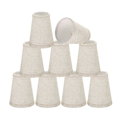 4 Linen Empire Lamp Shade Color: Flaxen