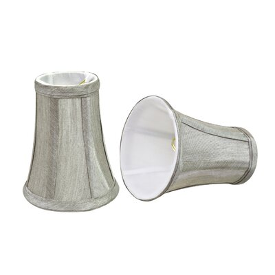 4 Fabric Bell Lamp Shade Color: Sliver Gray