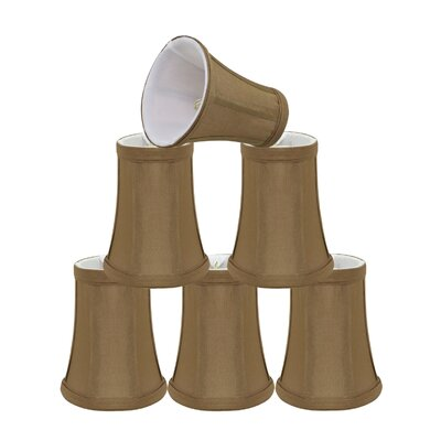 Clip On 4 Fabric Bell Lamp Shade Color: Light Brown