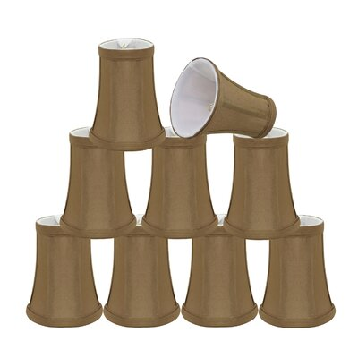 Clip On Modern 4 Fabric Bell Lamp Shade Color: Light Brown