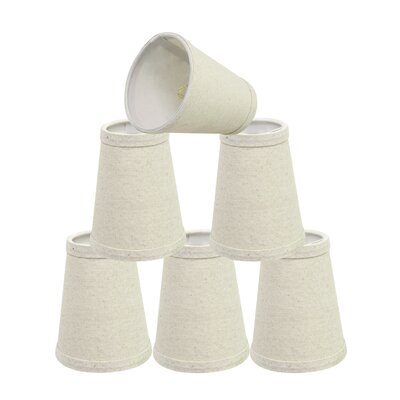 Clip On 4 Linen Empire Lamp Shade Color: Oatmeal
