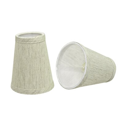 Clip On 4 Linen Empire Lamp Shade Color: Off White