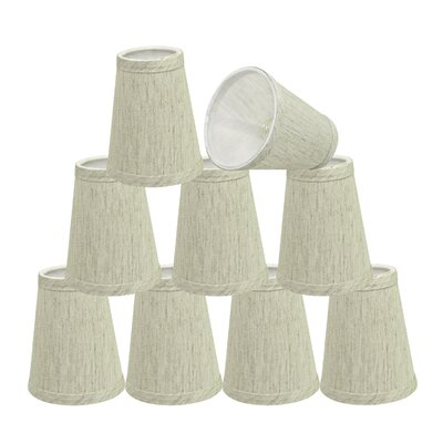 4 Linen Empire Lamp Shade Color: Off White