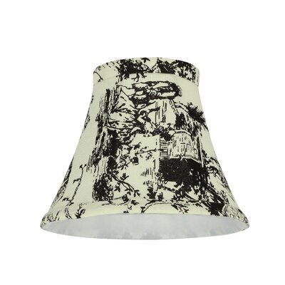 Modern 6 Fabric Bell Clip on Lamp Shade