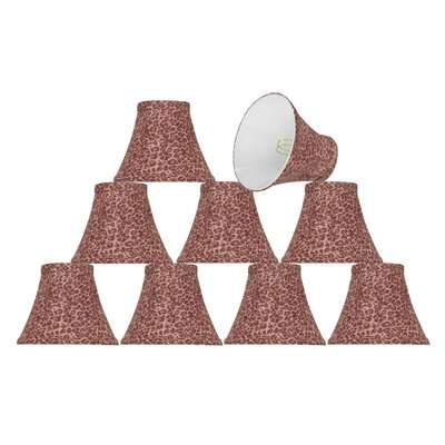 6 Fabric Bell Clip on Lamp Shade