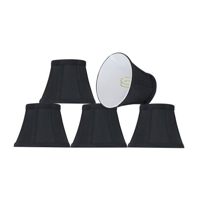 Modern Clip On 5 Fabric Bell Lamp Shade