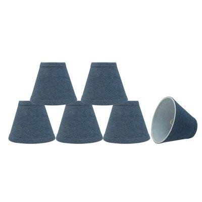 Clip On 6 Fabric Empire Lamp Shade