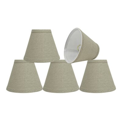 6 Fabric Empire Lamp Shade Color: Khaki