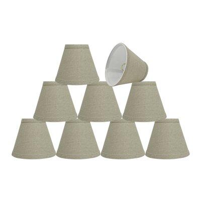 6 Fabric Empire Lamp Shade Color: Khaki