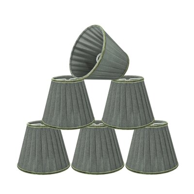 Modern Pleated 5 Fabric Empire Lamp Shade Color: Dark Gray