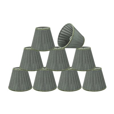 Pleated 5 Fabric Empire Lamp Shade Color: Dark Gray