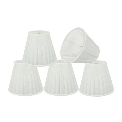 Pleated 5 Fabric Empire Lamp Shade Color: White