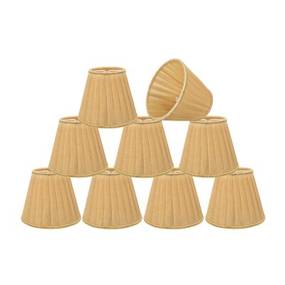Pleated 5 Fabric Empire Lamp Shade Color: Gold