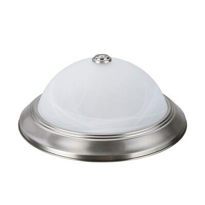 Herkimer 2-Light Flush Mount Fixture Finish: Brushed Nickel, Size: 5.25 H x 13 W x 13 D