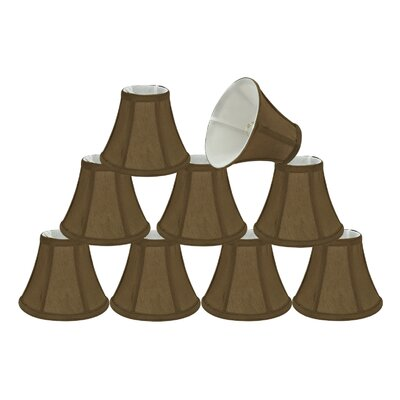 6 Silk Bell Candelabra Shade Color: Light Brown
