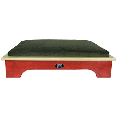 Dog Bed Color: Barn Red, Size: Medium