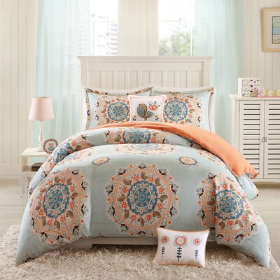 Hana Duvet Cover Set Size: Full/Queen