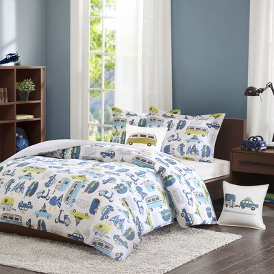 Road Trip Duvet Cover Set Size: Full/Queen