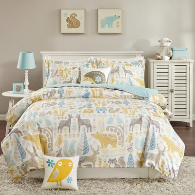 Woodland Duvet Cover Set Size: Full/Queen