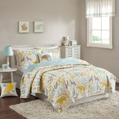 Woodland Cotton Coverlet Set Size: Twin