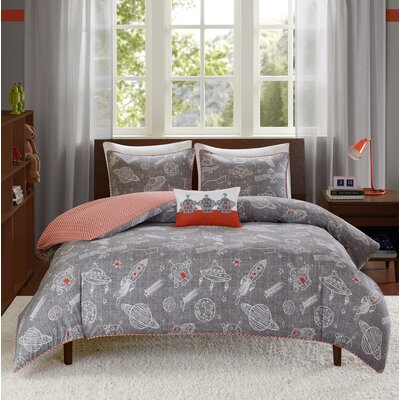 Orbit Reversible Duvet Cover Set Size: Twin