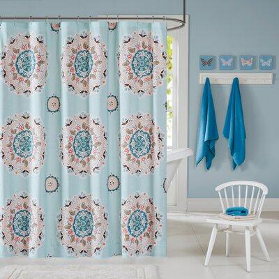 Hana Cotton Printed Shower Curtain