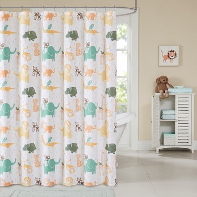 Dewayne Cotton Printed Shower Curtain